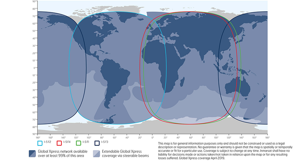 Inmarsat GX Coverage Map