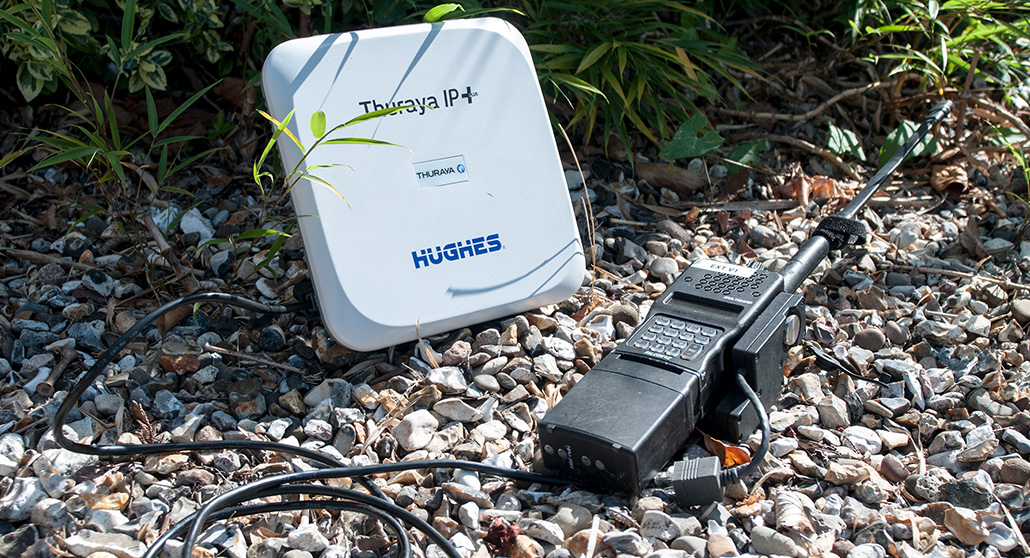 GRC Mission Module connected to Thuraya IP+ for RoIP