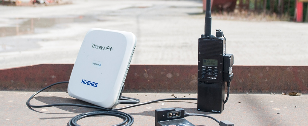 GRC Mission Module RoIP shown connected to a Thuraya IP+