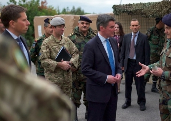 UK Ambassador during visit