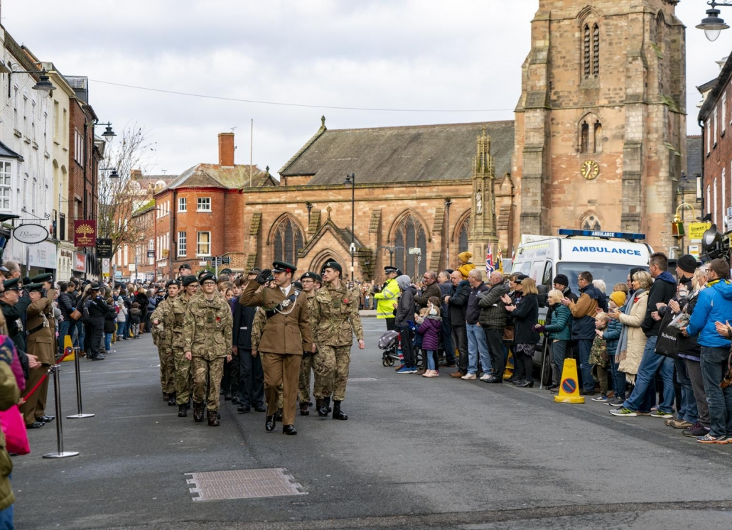 Remembrance Sunday Parade in Hereford 2019
