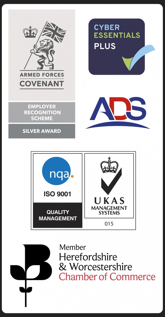 GRC Awards Armed Forces Covenant - ISO 9001 - Cyber Essentials Plus