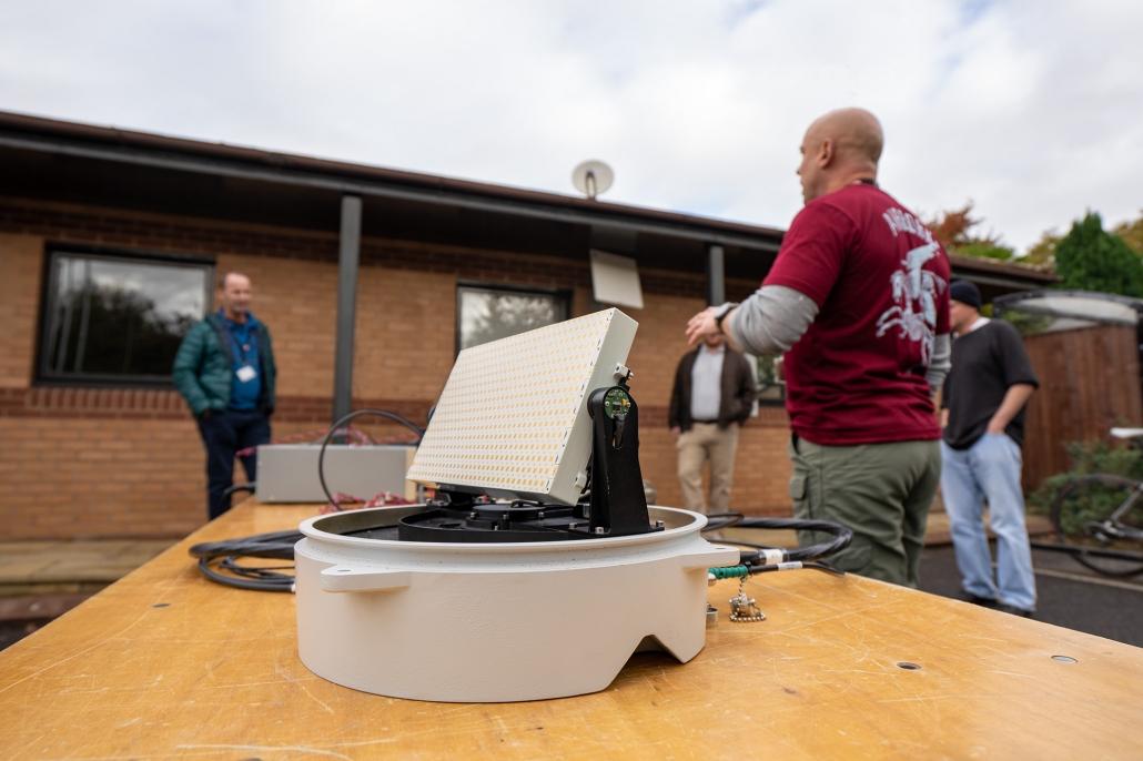 GetSat MicroSAT training outdoor lesson at GRC